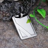 Personalized Silver Cigarette Box Pattern Tungsten Steel Men's Necklace