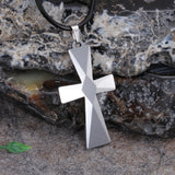 Delicate Diamond Pattern Crisscross Tungsten Steel Men's Necklace