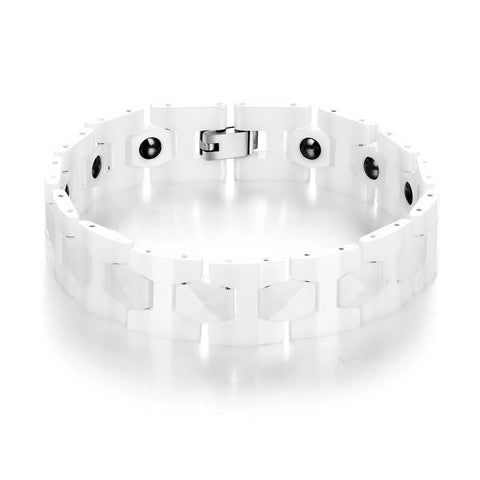 White Ceramic Anti-Fatigue Energy Bracelet