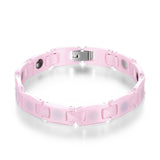 Pink Ceramic Ge Anti-Fatigue Energy Bracelet