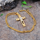 Religious Crisscross Titanium Steel Men's Necklace