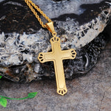 Personalized Double Crisscross Hollowed Titanium Steel Men's Necklace