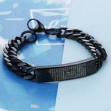 Divine Scriptures  Engraved Black Titanium Steel Men's Bracelet