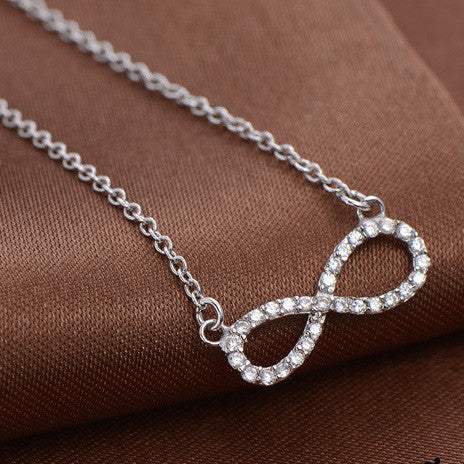 Love You Infinitely Sparkling 925 Sterling Silver Necklace