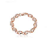 Rose Gold Alloy Charm Bracelet