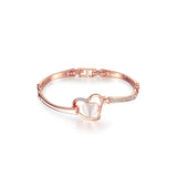 Rose Gold Heart-shaped Charm Bracelet