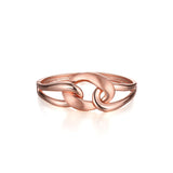 Rose Gold Clasp Bangle Bracelet