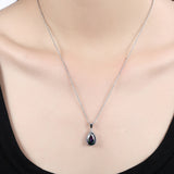 Pear-shaped Zircon Pendant Necklace