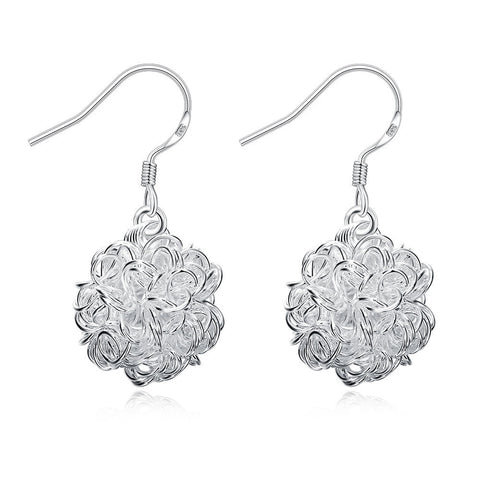 Wire Ball Drop Earrings