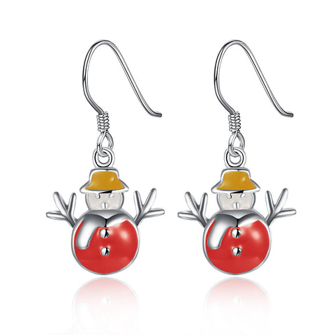 Festive Snowman Drop Earrings