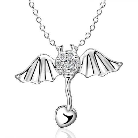Flying Heart Pendant Necklace