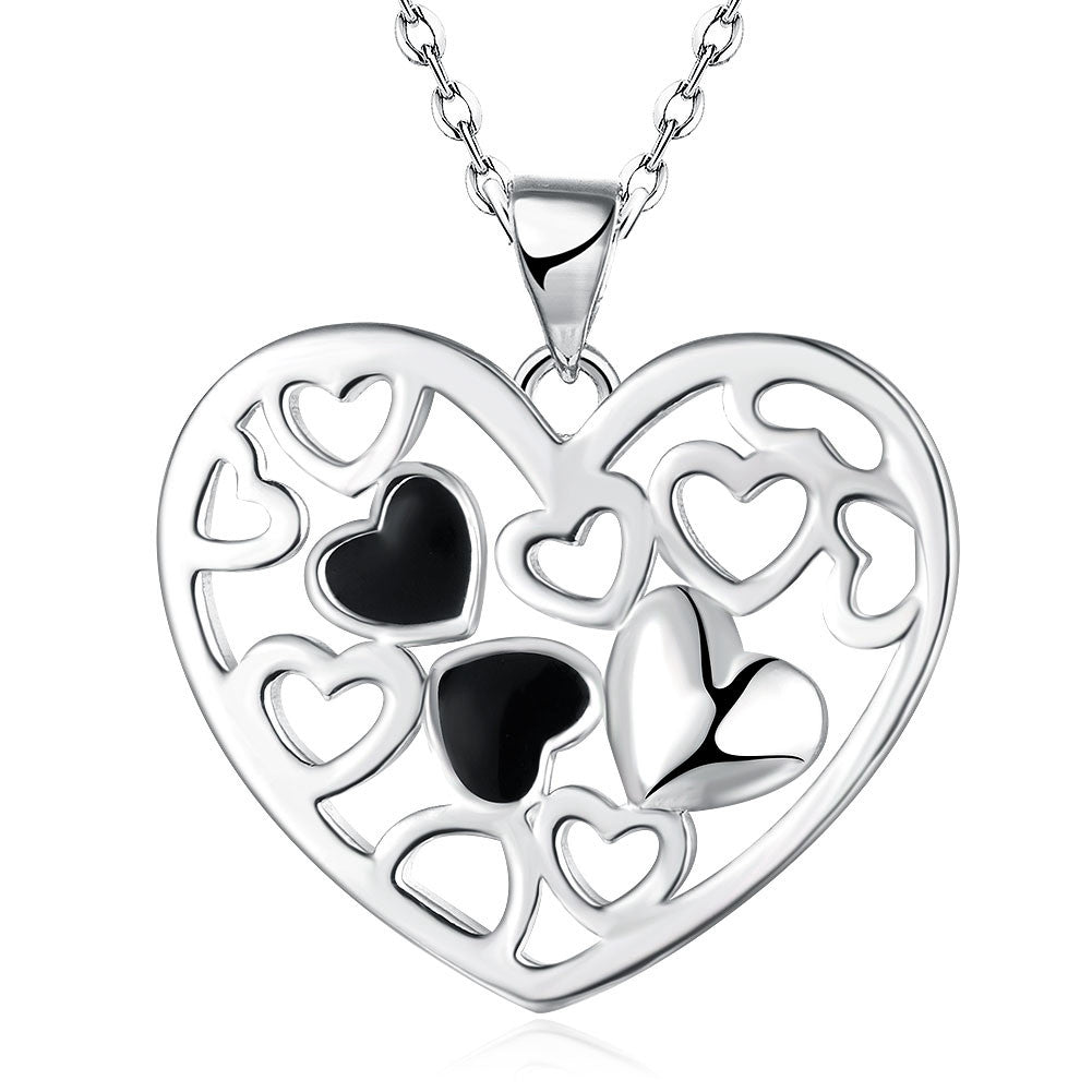 Silver Plated Heart-shaped Pendant