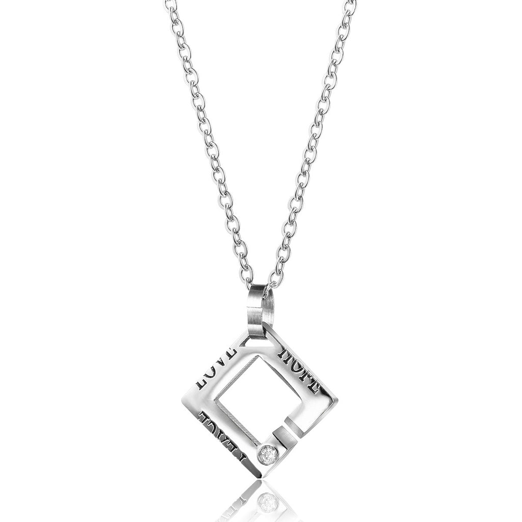 Completely new Hope Peace Love| Square Couple Necklace – EverMarker GS27