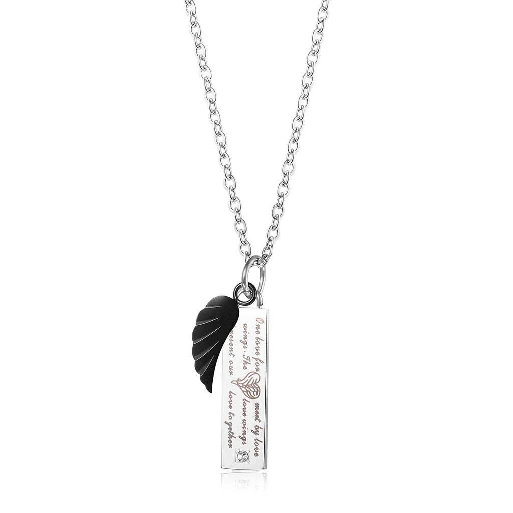 Love wings pendant couple necklace evermarker love wings pendant couple necklace aloadofball Choice Image