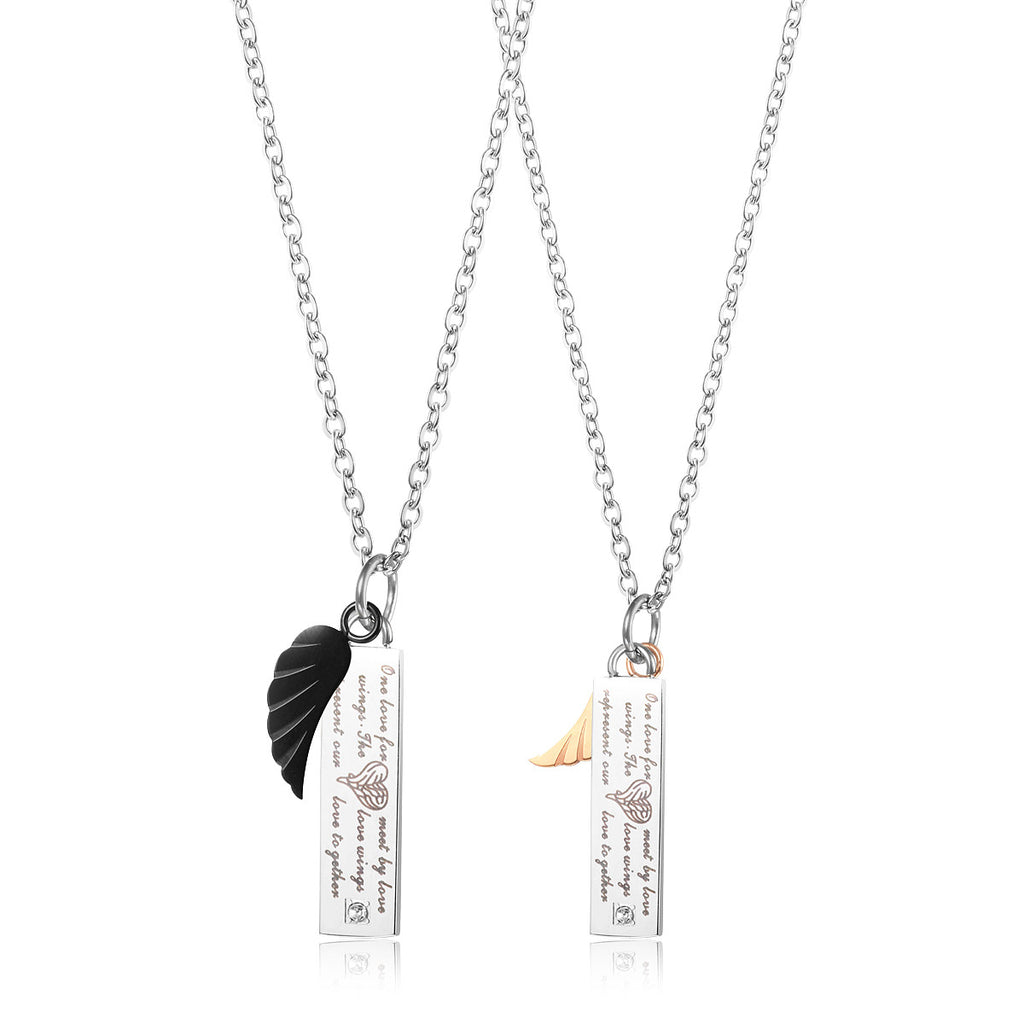 Love Wings Pendant Couple Necklace