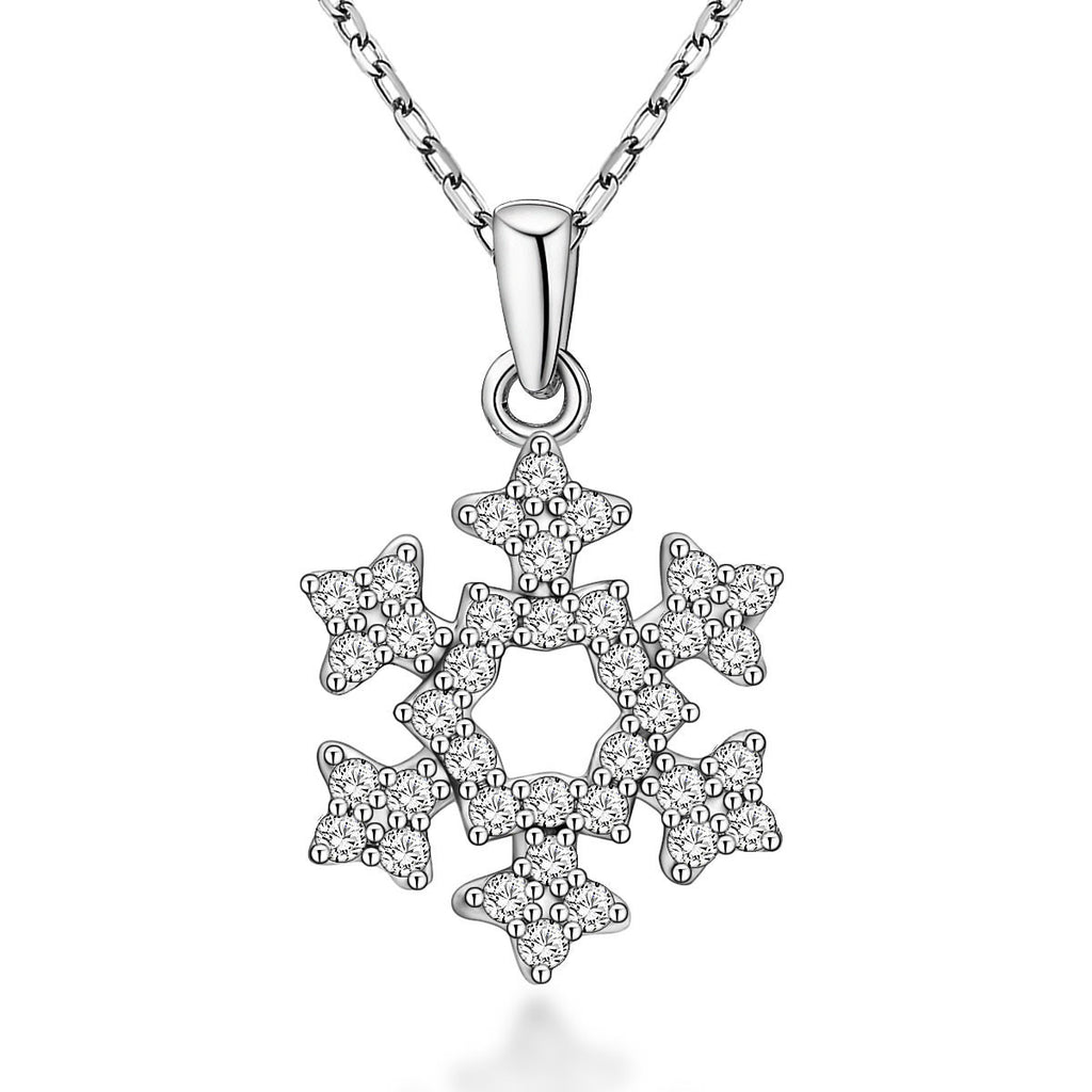 Women Cute Star-shaped Design 925 Sterling Silver Pendant Necklace