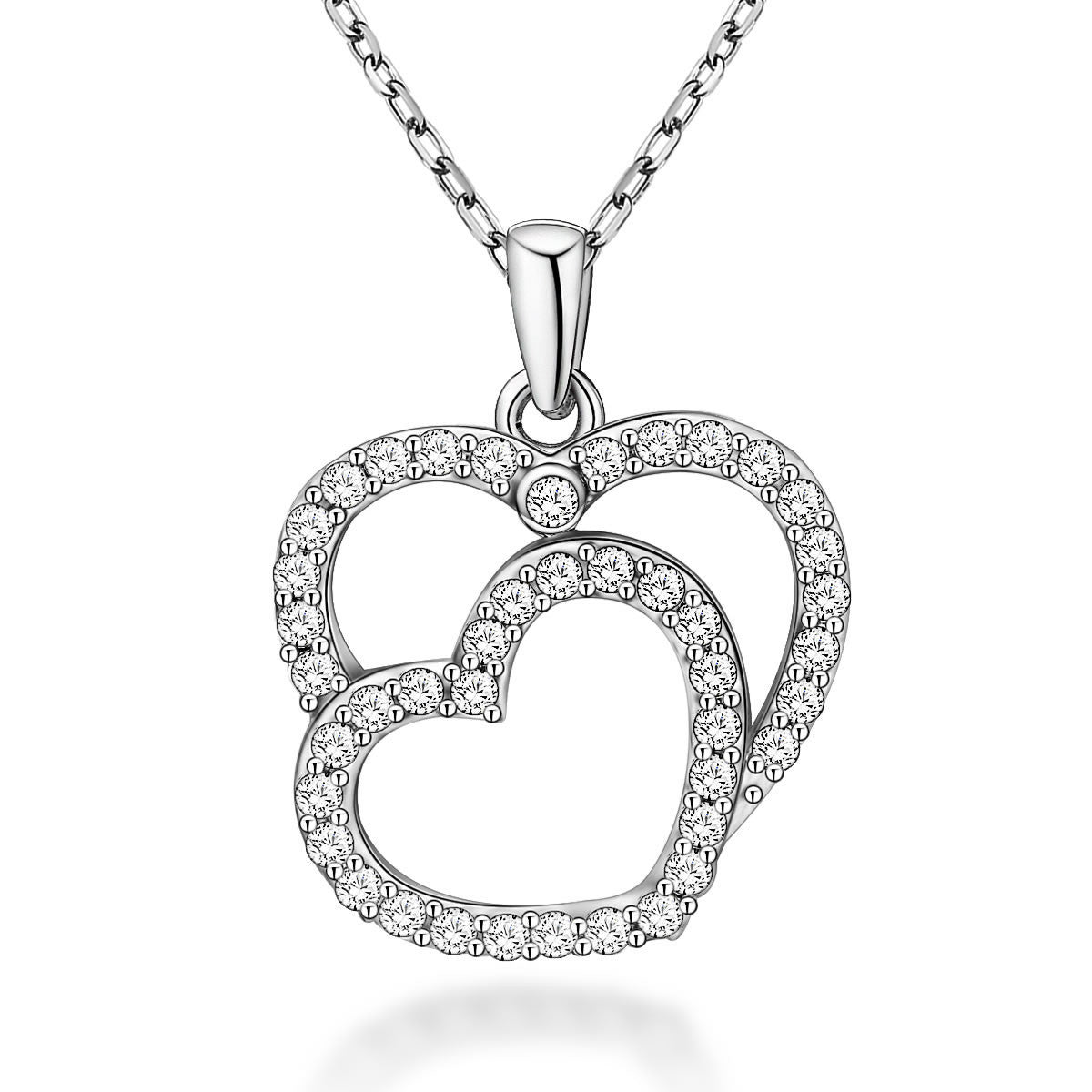 Special Heart-shaped Design 925 Sterling Silver Pendant Necklace E061755001