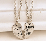 Heart Breaker Chain Necklace for Friendship Lover
