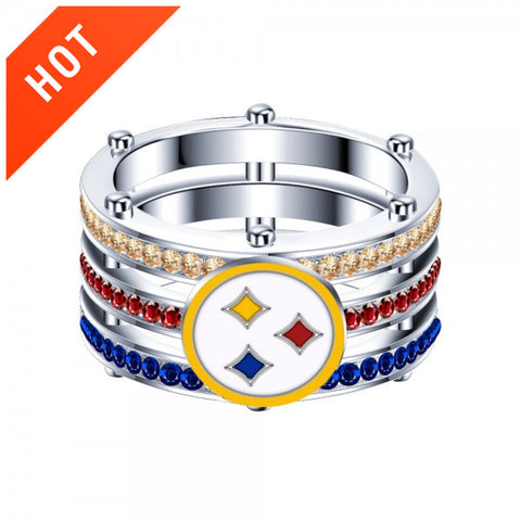 Pittsburgh Steeler 925 Sterling Silver Women And Men's Unisex Ring