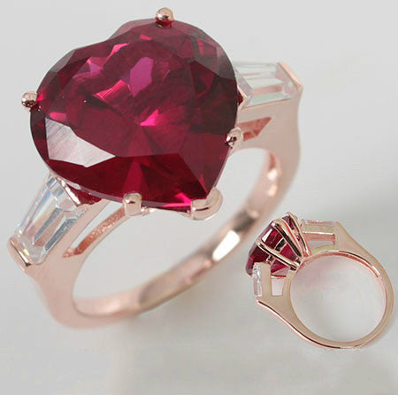Brilliant Cut Heart Shaped Engagement Ring