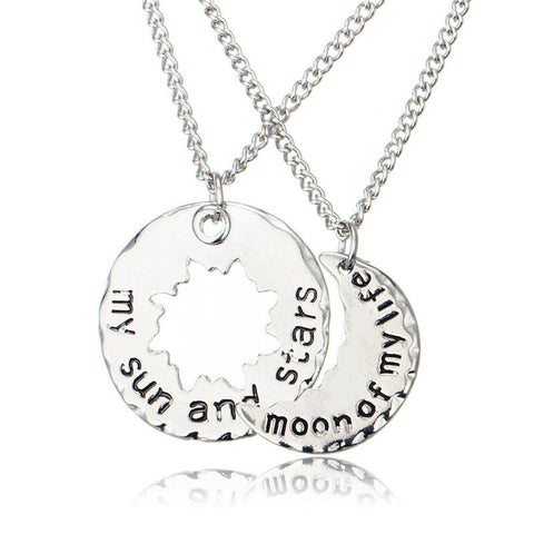 Moon Of My Life| My Sun And Stars| Couple Necklaces