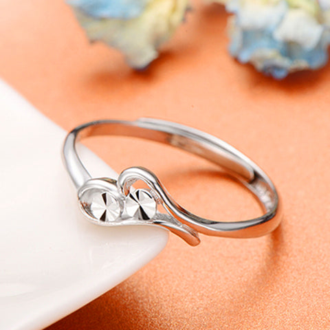 Adgustable High Fashion Silver Couple Rings