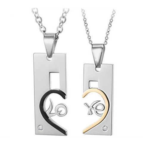 Heart Matching Couple Necklaces