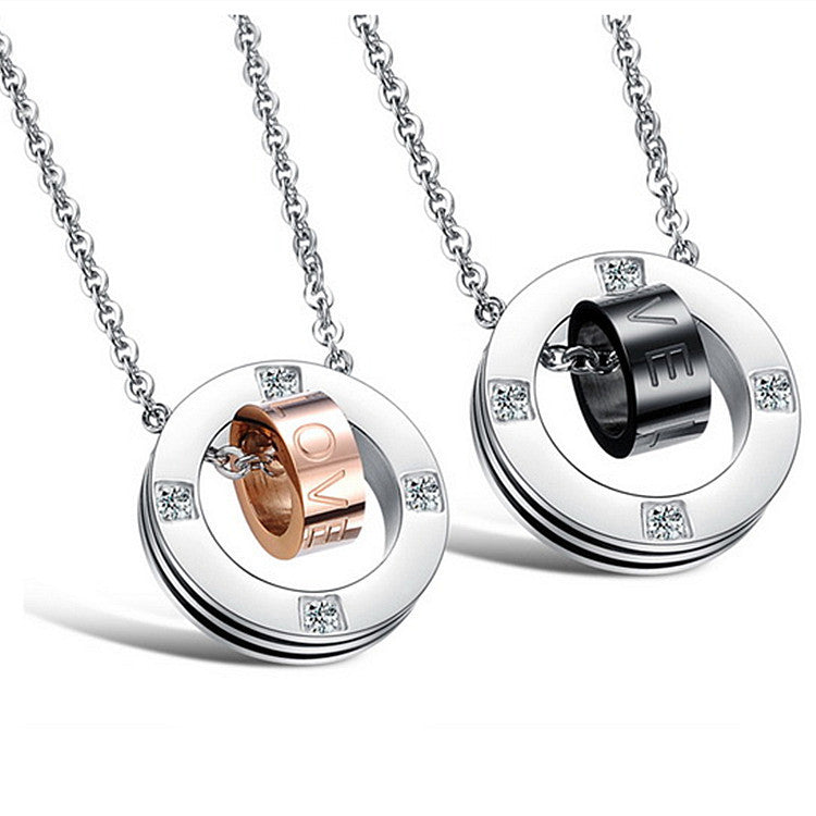 love stainless steel couples necklaces � evermarker