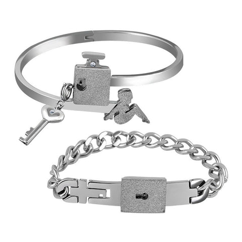 Forever Love Lock & Key Couple Bracelets