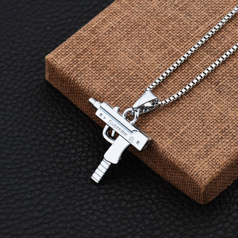 Gun Shipped Hip Hop Pendent Necklace