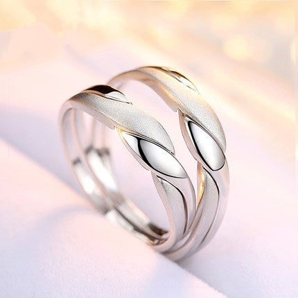Never Apart Silver Couple Rings