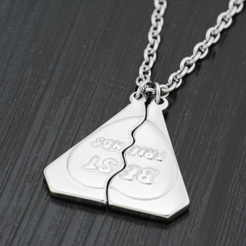 FOREVER BEST FRIENDS Triangle Hip Hop Pendent Necklace