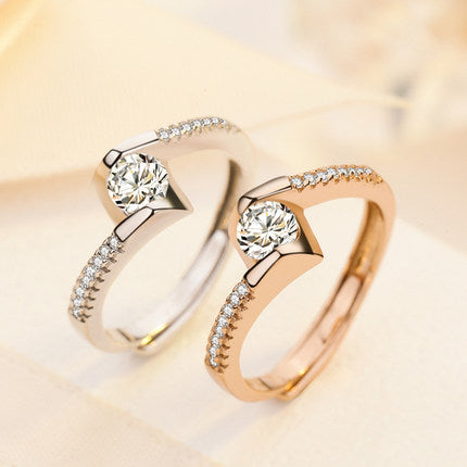 High Fashion Ring Tail Silver Couple Rings