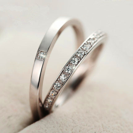 Happy Fate Silver Couple Rings