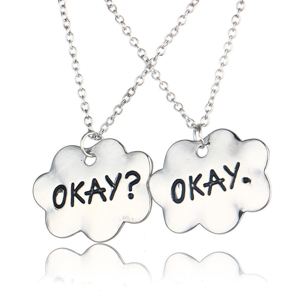 Okay Couple Friendship Okay? Okay Necklaces