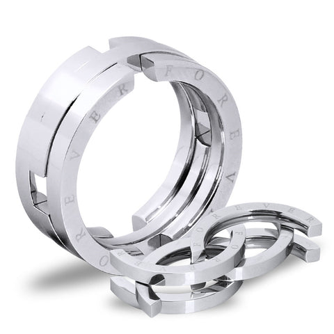 Deformed Personality Titanium Steel Men's Rings