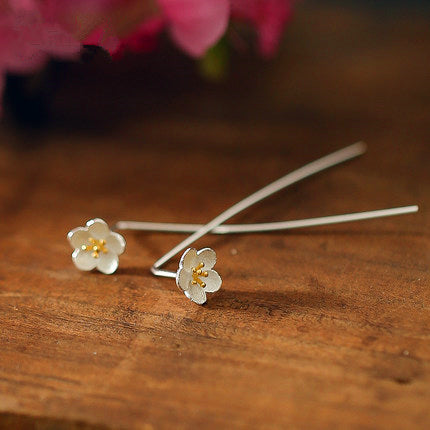 Simple Fashion Sakura Long Stud Earrings