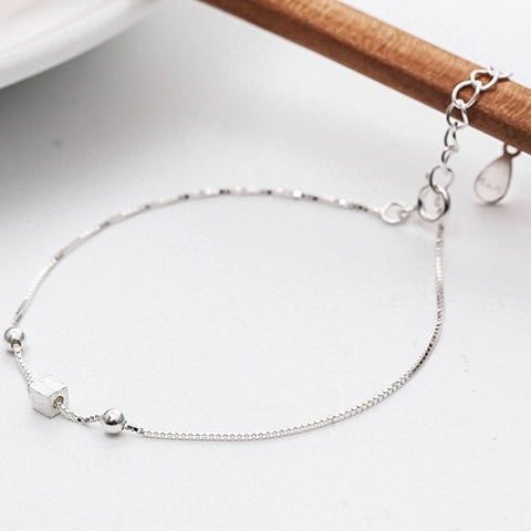 High Fashion Cube Silver Bracelet