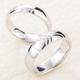 Personalized Romantic Lover's Heart Shape Couple Rings
