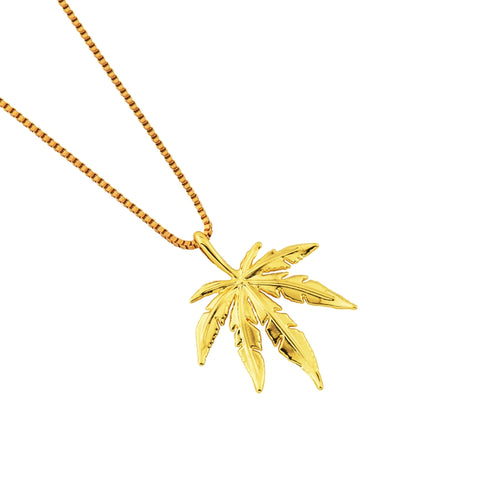 Maple Leaves Hip Hop Pendent Necklace