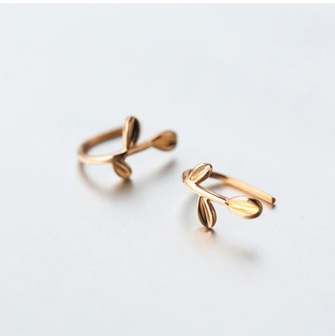 High Fashion Leaf Stud Earrings