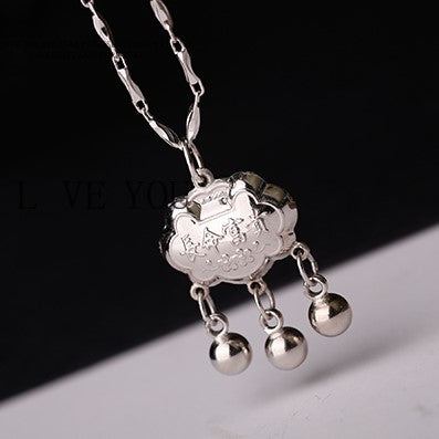 Longevity Lock Silver Necklace