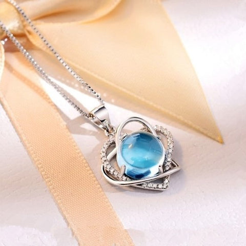 Speak Now Natural Gem Silver Necklace