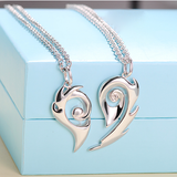 925 Sterling Silver Style Lover Necklace