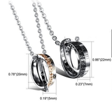 Eternal Love Rome Numbers Titanium Steel Couple Necklaces