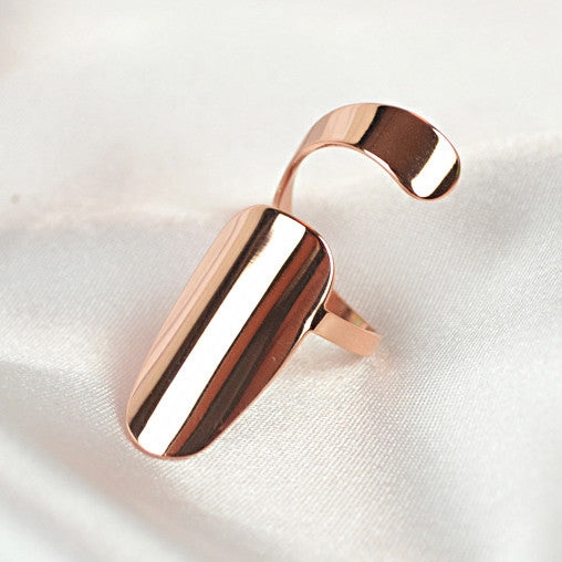 Rose Gold-plated Titanium Steel Nail Ring