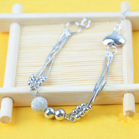 Fashion Multilayer Jadoku Beads Silver Bracelet