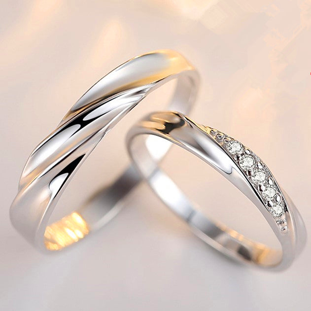 Love Celebration Forever Couple Silver Rings Evermarker