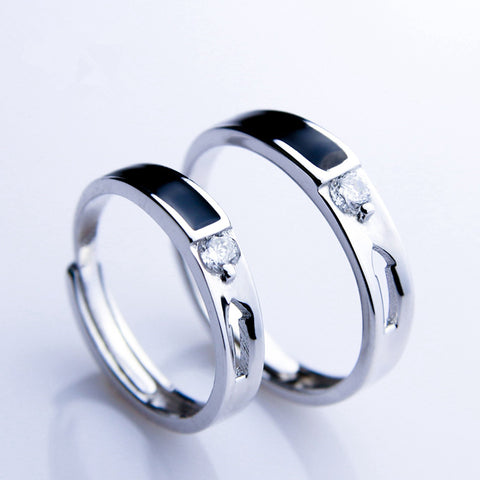 Love Arrow Silver Couple Rings