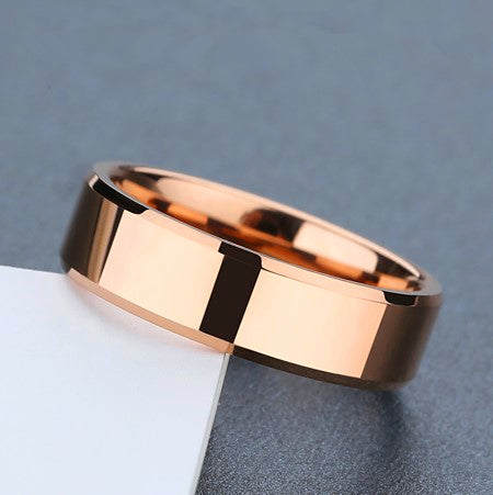Rose Gold Plated Silver Couple Rings